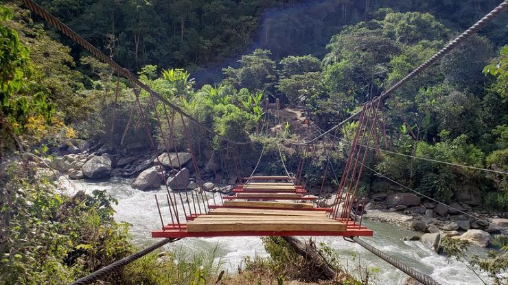 Bridge over the river. Photo by EIA Bridge program