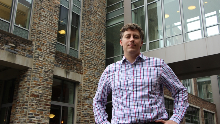 BME Postdoctoral Fellow Isaac Hilton