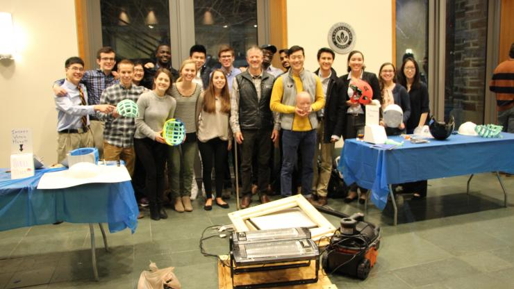 Students from Roger Nightingale's design class at the BME Design Symposium