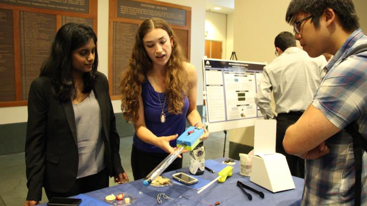 Students present a needle localizer project