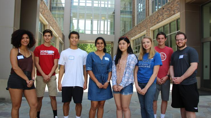 Four high school students spent their summer working in BME labs at Duke