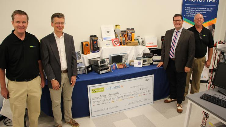 "Matt Brown wins more than $20,000 in new equipment for Duke BME through the ""Dream Lab"" Competition"