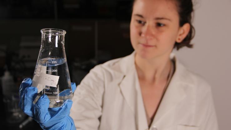 Kim Bourne in lab