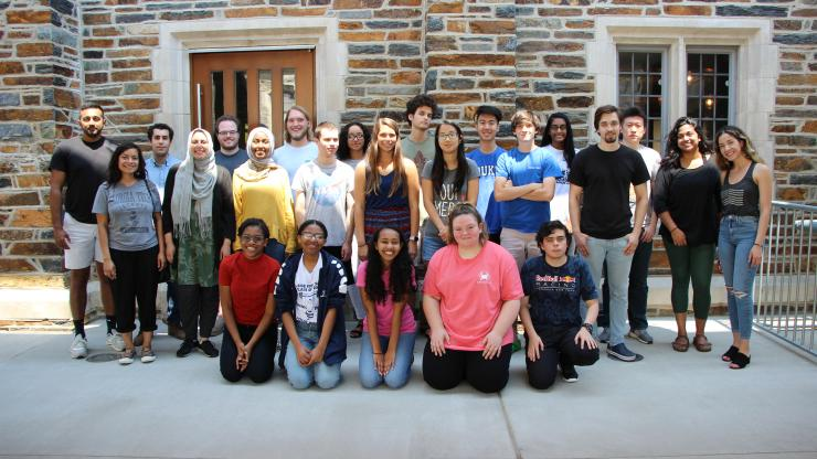 The DukeREP team with the participating high school students
