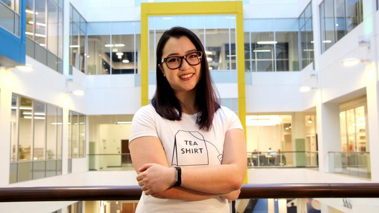 Leah Machlin, MEng'17, is a research associate at Element Genomics