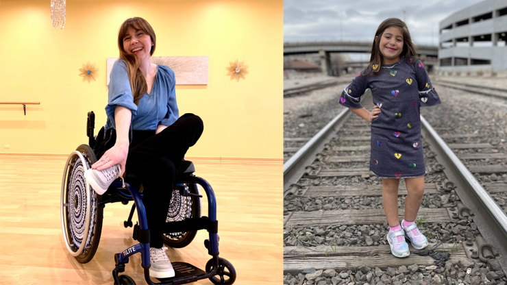 Laurie Aman is a paraplegic woman and Sadie Obana was born with one hand