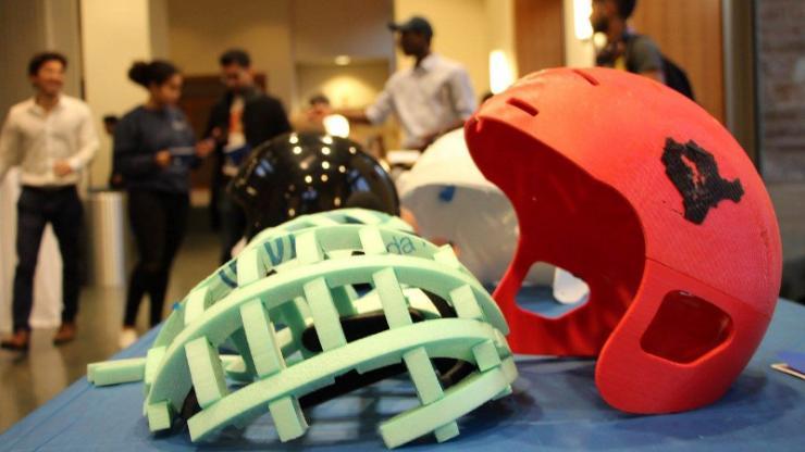 3-D printed helmets