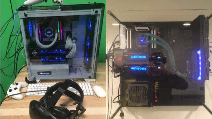 VR stations at Duke