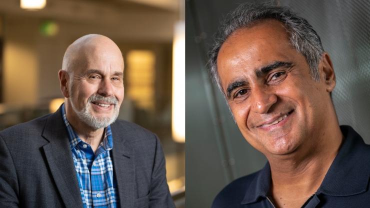 Robert Calderbank (left) and Vahid Tarokh (right)