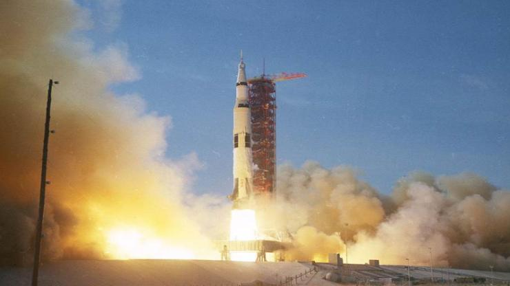 Apollo 11 blasting off