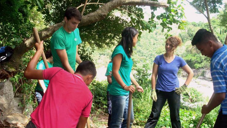 Environmental engineering major Karyn Saunders created computational models to understand problems with a greywater treatment system in Honduras—part of her NAE Grand Challenge Scholars project advised by faculty mentor David Schaad.