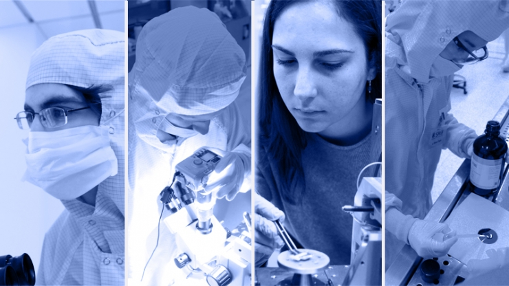 The SMIF Undergraduate User Program provides Duke students with hands-on experience working with specialized equipment for fabrication, characterization, and imaging of micro- and nanoscale objects.