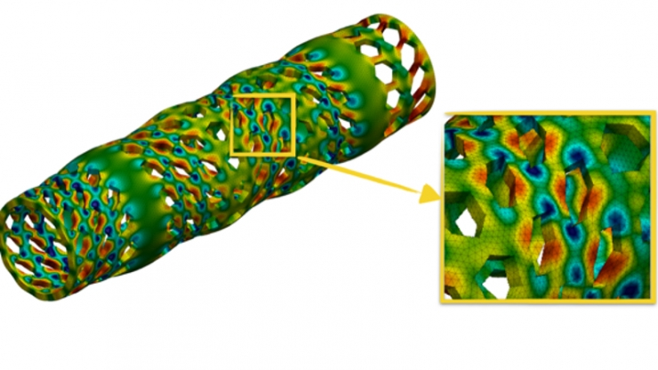 Simulation of a vascular stent under dynamic torsion loading