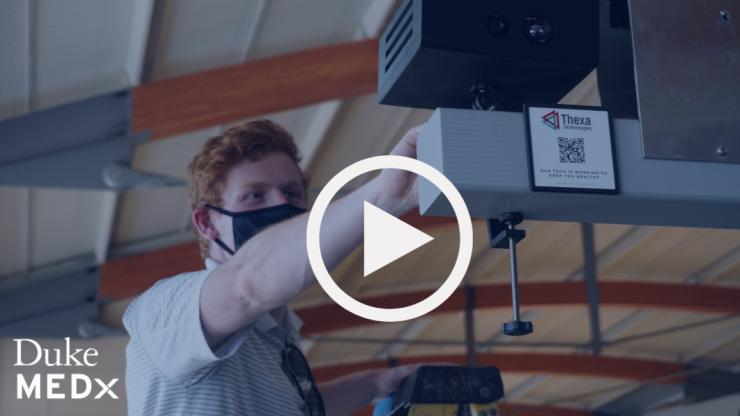 Video still of Duke MEDx video on Thexa Technologies