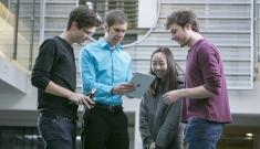 Kyle Bradbury and Data+ students