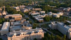 aerial view of Duke