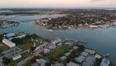 aerial view of Beaufort, NC