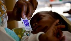 The Pratt Pouch was developed in 2008 by Duke students and faculty as an easy and effective measure to prevent mother-to-child HIV transmission. (Photo by: Marc-Grégor Campredon)