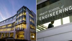 Trent Semans Center (left) and Pratt School of Engineering (right)