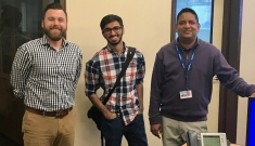 From the Left to Right - Casey Collins, Energy Manager FMD, Anuj Thakkar, Initiative Lead, Abhishek Bathula, Energy Engineer FMD