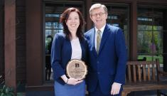Trisha Dupnock and President Vincent E. Price