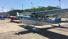 carolina blue aerobatics plane