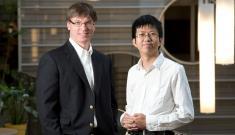 Professor John Dolbow and his PhD student Yingjie Liu