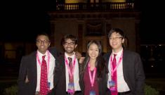 The mPower team celebrates following the Hult regional competition in Mexico.