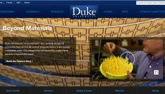 Duke website screenshot of metamaterials feature