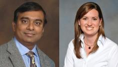 Krishnendu Chakrabarty (left) and Amanda Randles (right)
