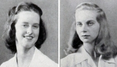 Marie Foote Reel, left, and Muriel Theodorsen Williams, members of the Class of 1946.