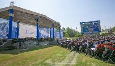 Duke commencement ceremony in Wallace Wade Stadium