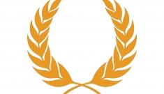 Laurel wreath icon persimmon color