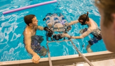 duke robotics submarine in water