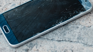 phone with shattered screen