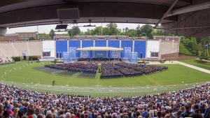 2019 Duke commencement ceremony in Wallace Wade Stadium