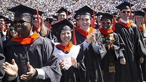 Duke engineering students at graduation