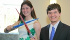 Challenged in a Pratt class for first-year students to design a toy for a McDonald's Happy Meal, Barbara Groh and Samuel Lester developed telescoping lightsaber toys.