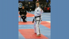 Ricky Hollenbach competing at the World Taekwon-Do Championships in Buenos Aires, Argentina, in 2018.