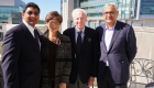 From left to right: Ravi Bellamkonda, Carol Kaganov, Alan L. Kaganov and Ashutosh Chilkoti attend the first symposium sponsored by the Kaganov Initiative in 2017.