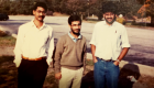 Ravi Bellamkonda, left, with friends Arindam Mitra and Subir Lall, not long after Bellamkonda first came to the U.S. in 1989.