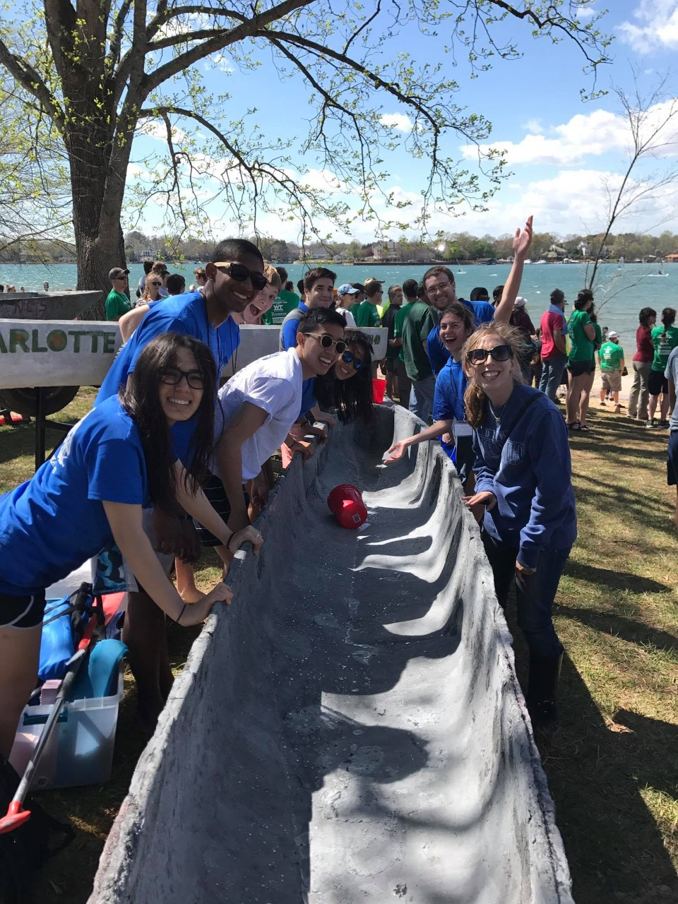 Duke ASCE Student Chapter with Concrete Canoe