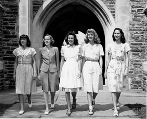 The first women graduated from the college of engineering in 1946.