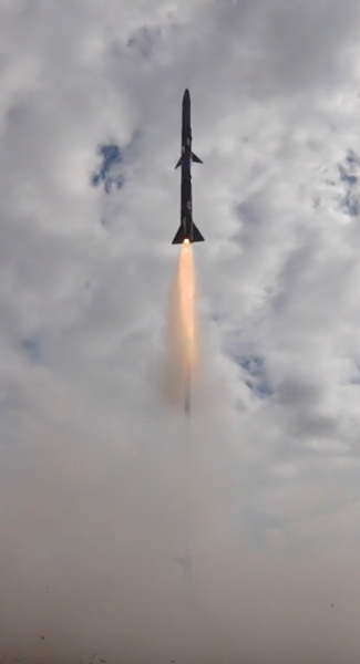Rocket lifts off