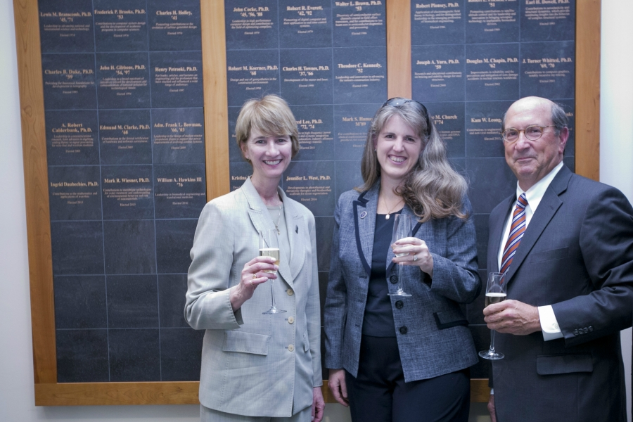 Kristina Johnson, Jennifer West and William A. Hawkins III were elected to the National Academy of Engineering in 2016.