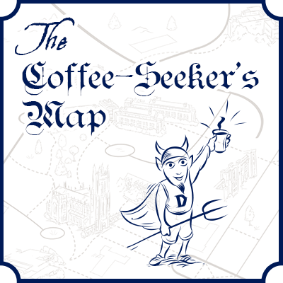 Coffee fuels collaboration! Click for a coffee-seeker's map of Duke.