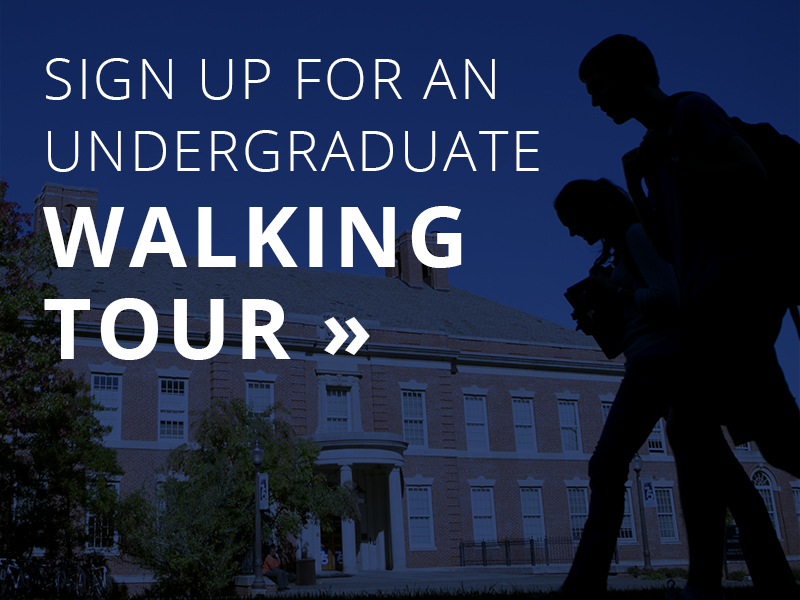 Sign up for an undergraduate walking tour